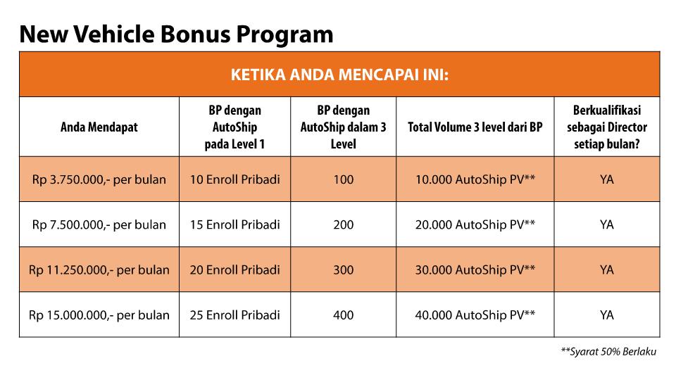 Car Bonus Program